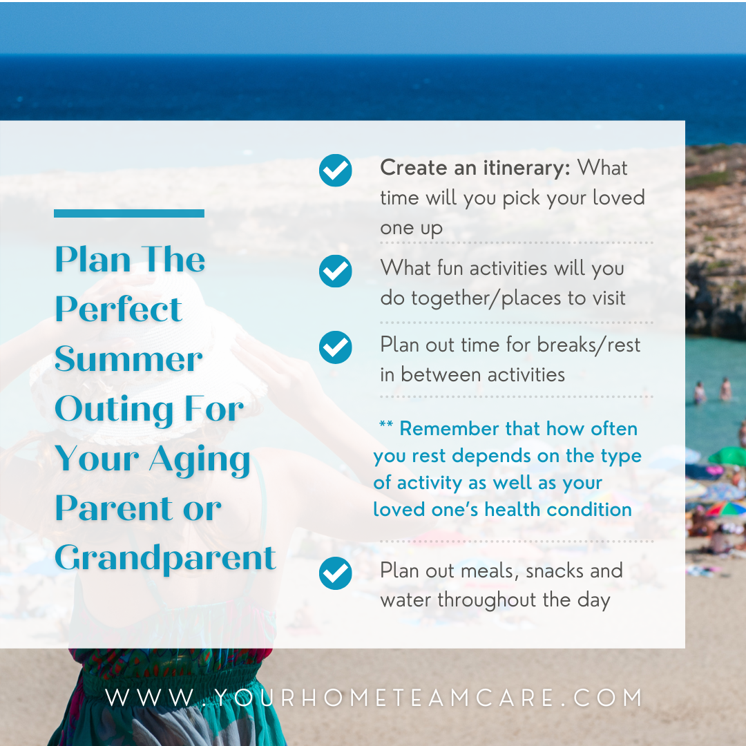 Caring for elderly parents - Plan the perfect summer outing for your aging parent or grand parent