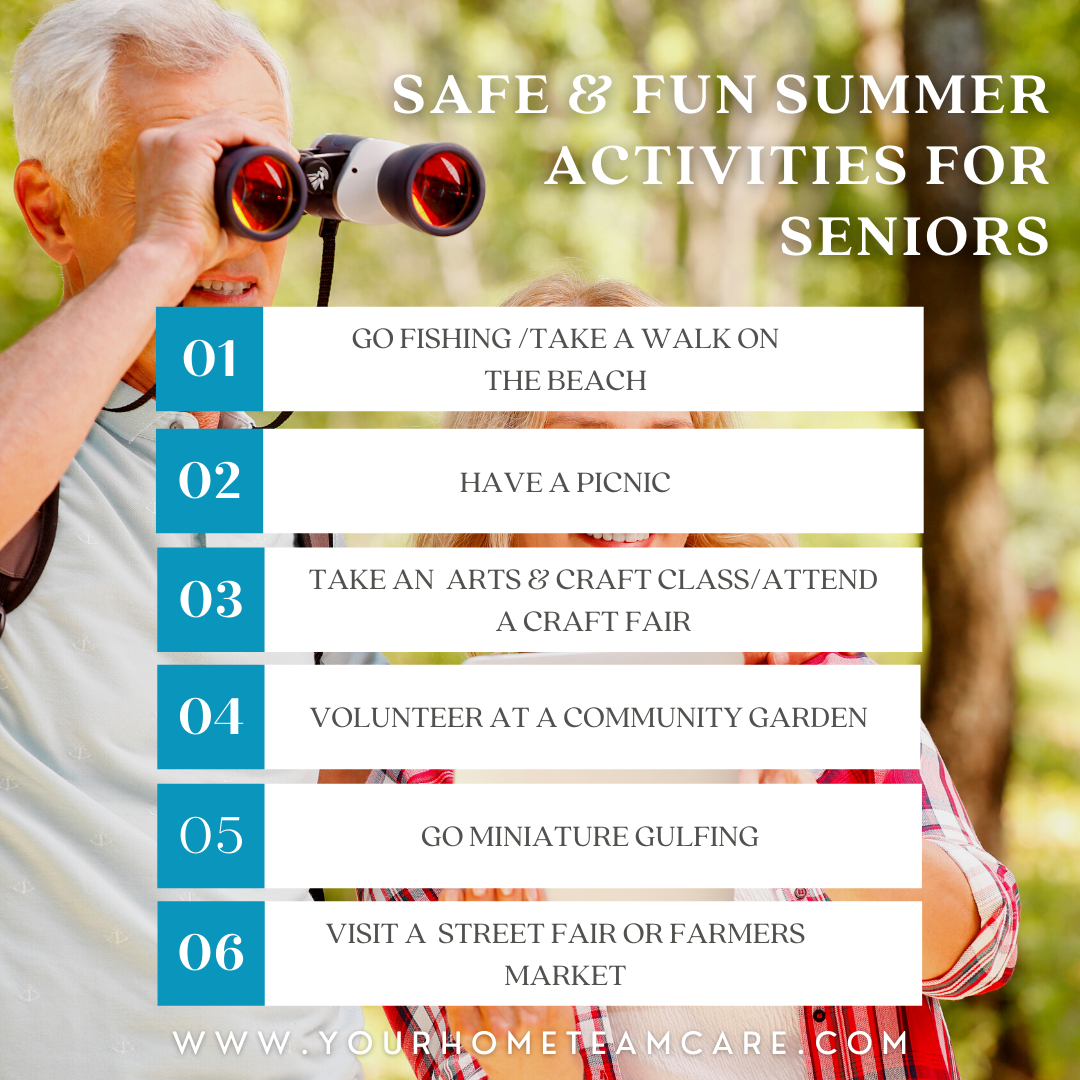 Safe and fun summer activities for seniors